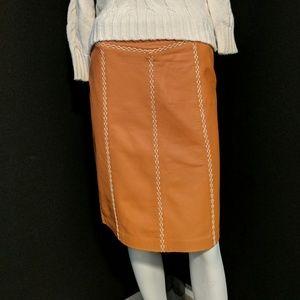 EUC Gap leather skirt